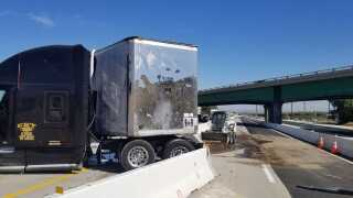 Semi Truck Accident on Hwy 99