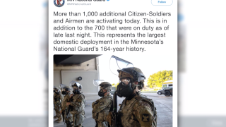 Minnesota governor activates 'full mobilization' of state's National Guard