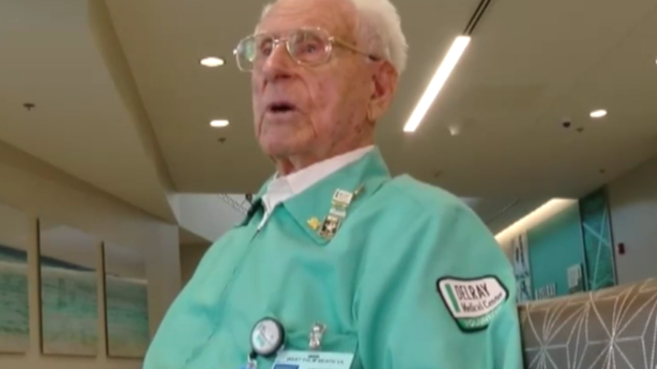 105-year-old WWII veteran continues to serve, as volunteer at Delray Medical Center