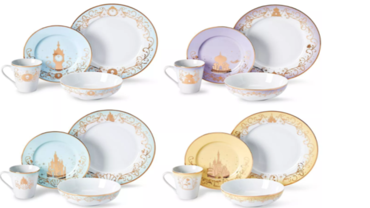 Target Is Selling A 16-piece Disney Princess Ceramic Dinnerware Set