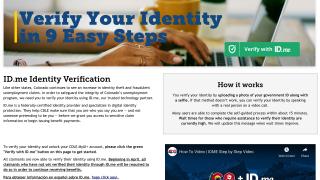 cdle id me verification page