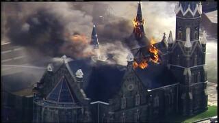 Milwaukee's historic Trinity Evangelical Lutheran Church burns down