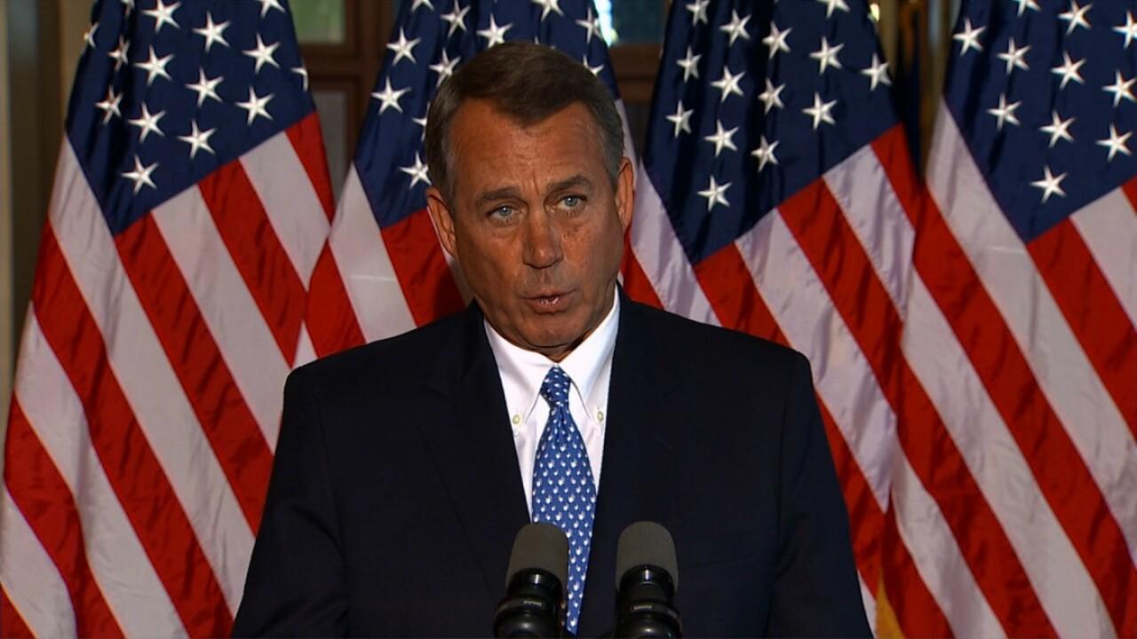 House Speaker John Boehner announcesresignation
