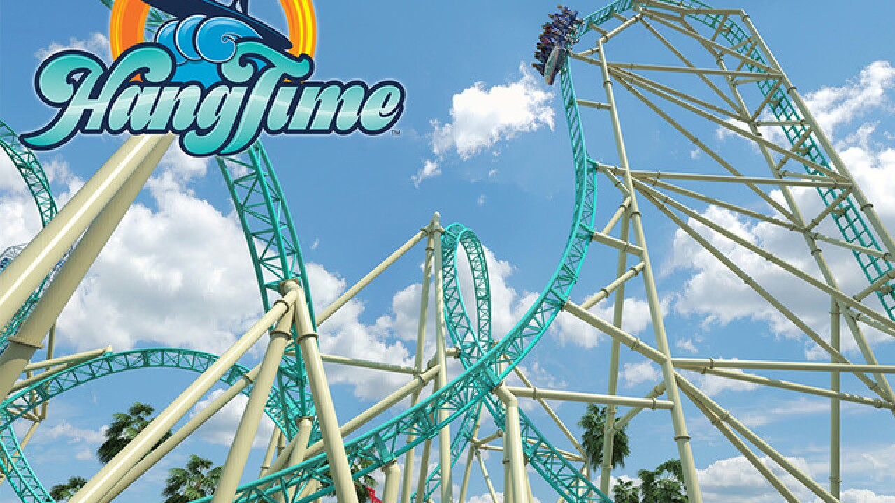 Extremely steep 'HangTime' roller coaster launches at Knott's Berry Farm