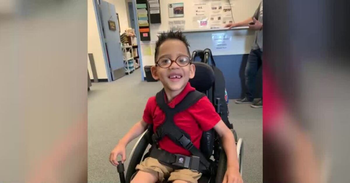 Walker stolen from Vegas valley boy with cerebral palsy