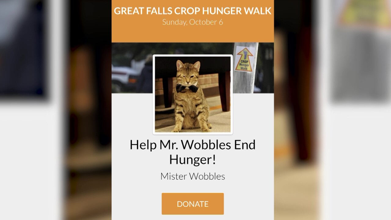 """Mister Wobbles"" helps raise money for charity in Great Falls"