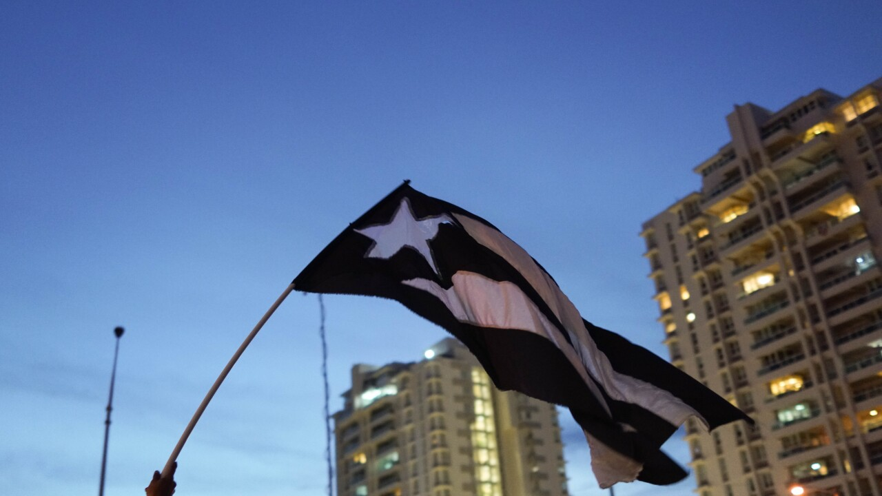 Protesters Rally Against The Interim Governor Outside The Puerto Rico Department Of Justice