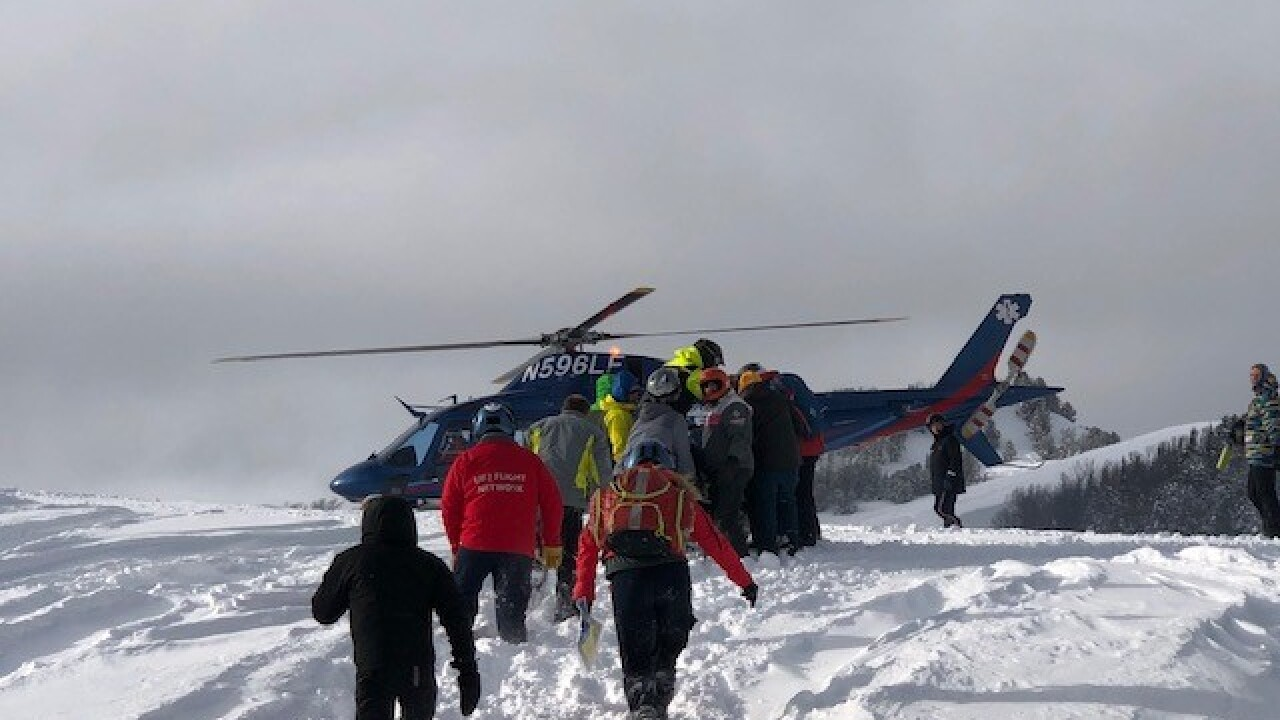 Snowmobiler rescued near Big Sky