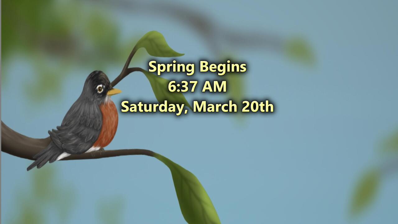 Spring Begins Saturday