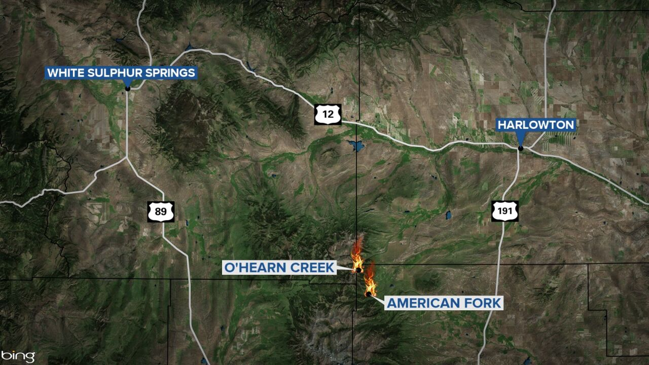 Two new wildfires burning in the northeast Crazy Mountains