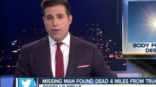 Missing man found dead 4 miles from truck