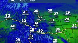 As the wind lets temperatures take a tumble overnight