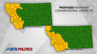 Proposed Montana Congressional Districts