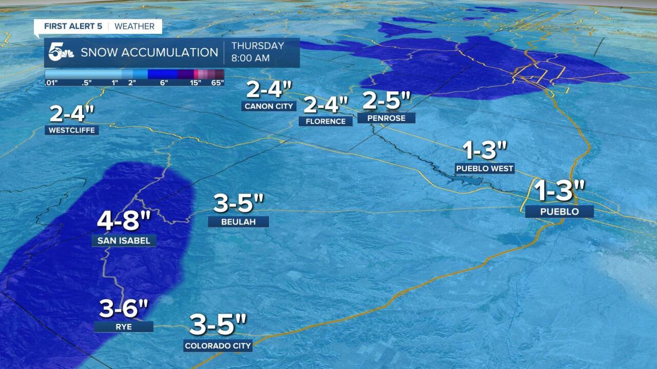 Arkansas River Valley Snow Accumulations