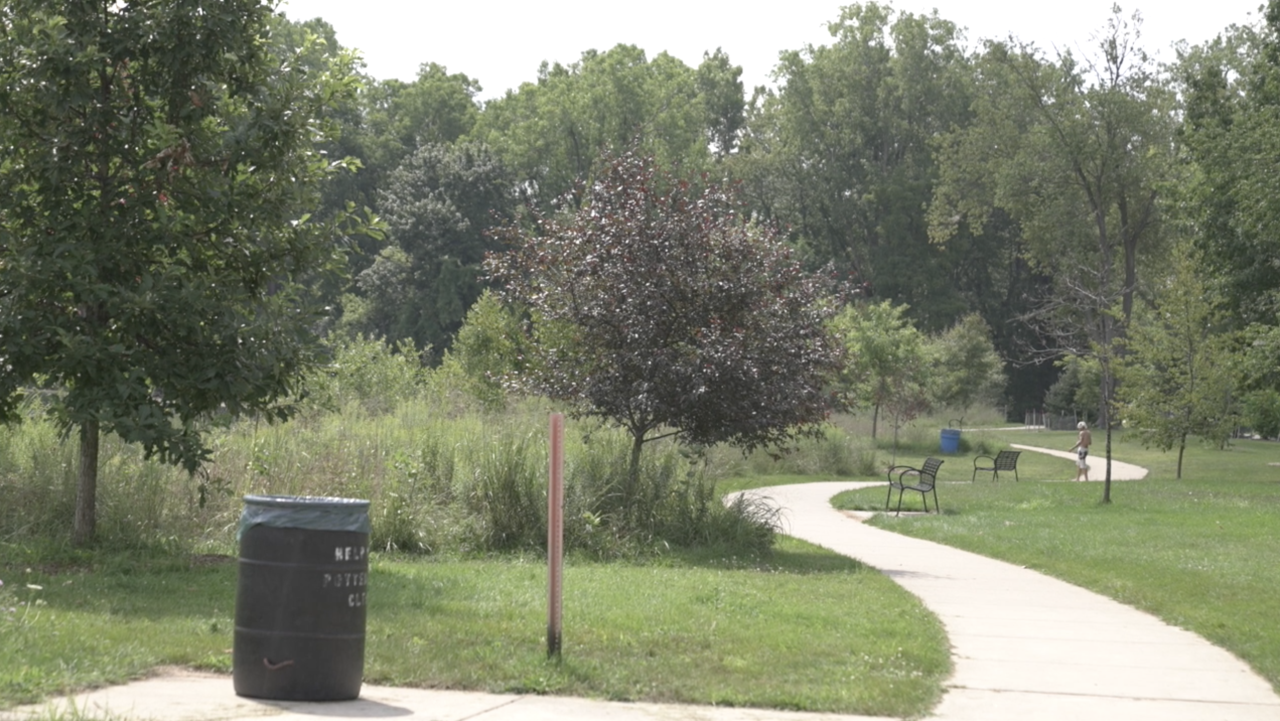 A portion of the trail near Crego Park