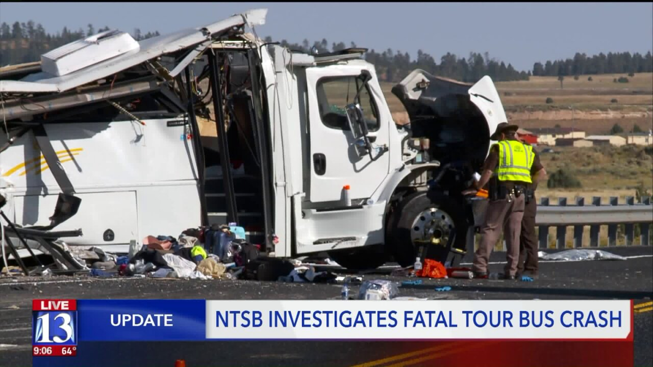 Federal investigators say fatal bus crash happened during new driver's first trip