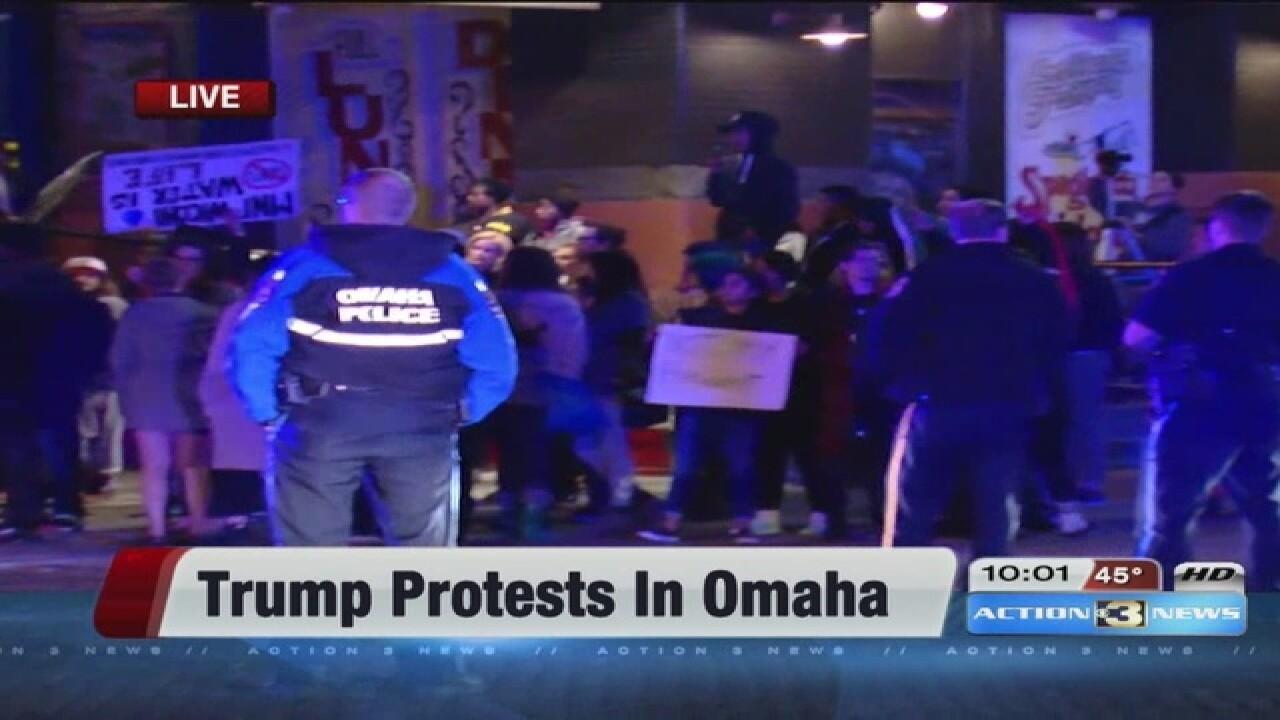 2 people arrested at Trump protest in Nebraska