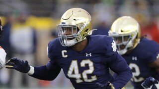 Detroit Lions pick Notre Dame DE Julian Okwara with 67th overall pick
