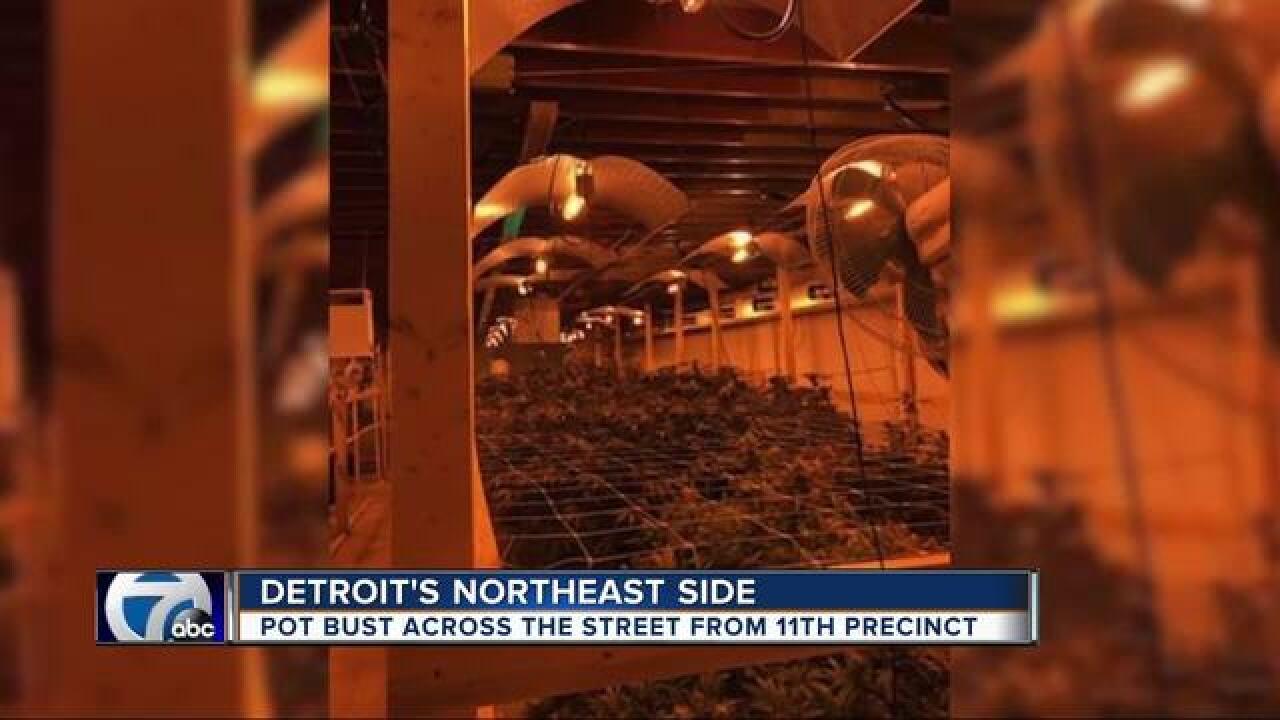 Major drug bust in Detroit. Right across the...