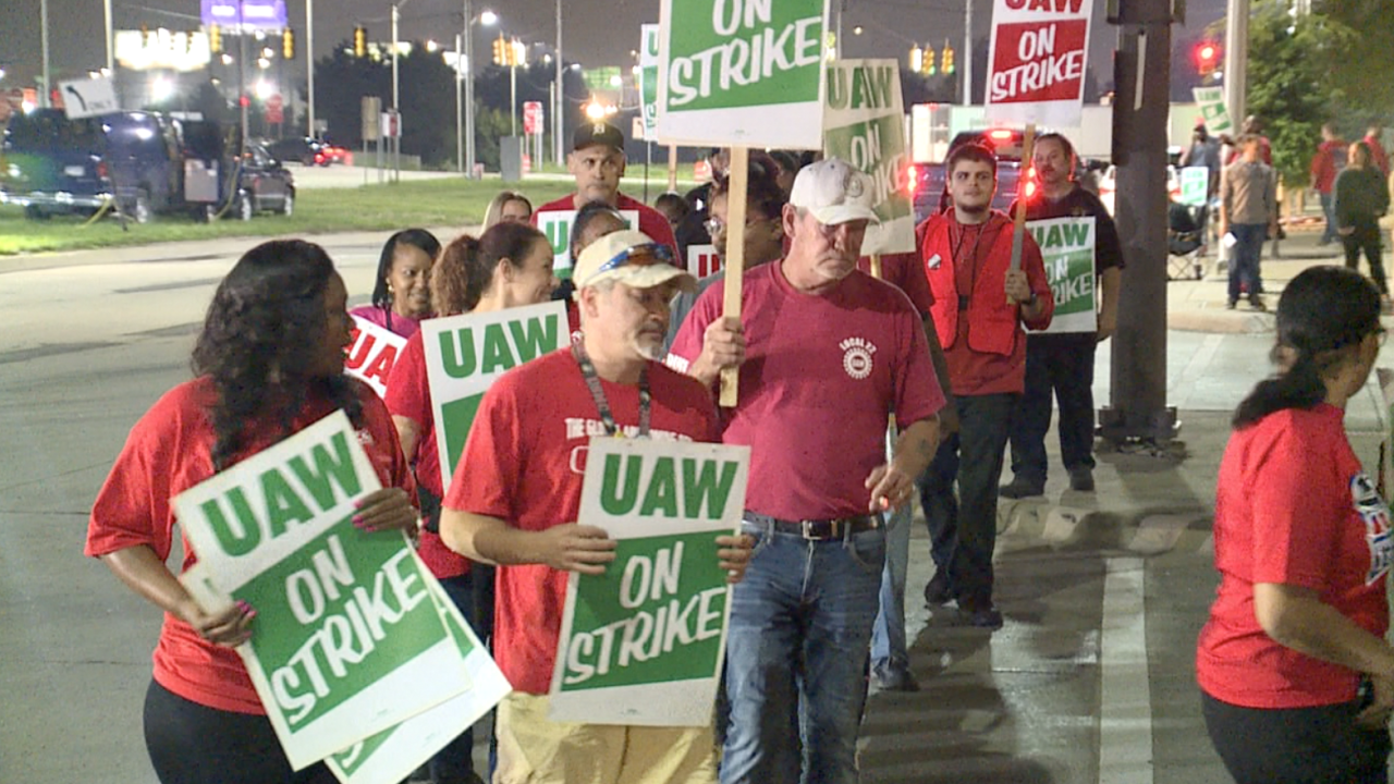 Nearly 50,000 UAW workers walk off the job at General Motors, national strike underway