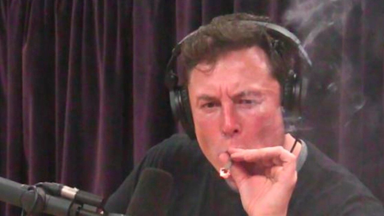Video shows Elon Musk, Tesla CEO, smoking weed during podcast interview
