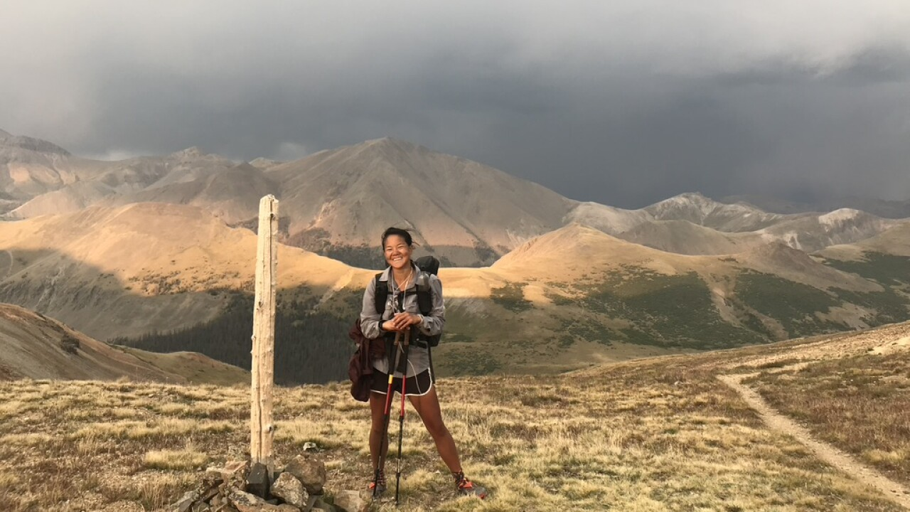 Sophia Tang on the Colorado Trail