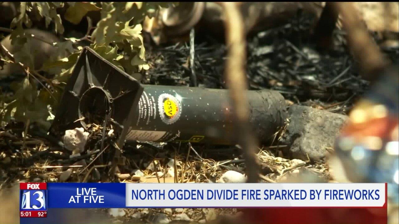 Firework throwers start brush fire near North OgdenDivide
