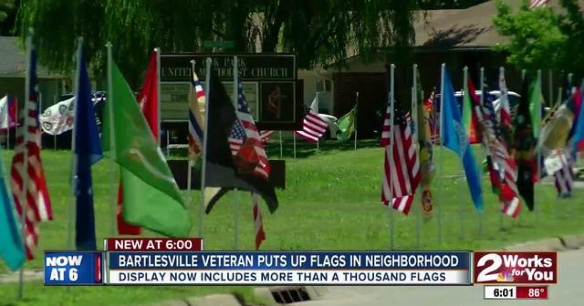 Bartlesville veteran displays more than 1,000 flags throughout