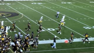 High school football player with cerebral palsy scores 80-yard touchdown