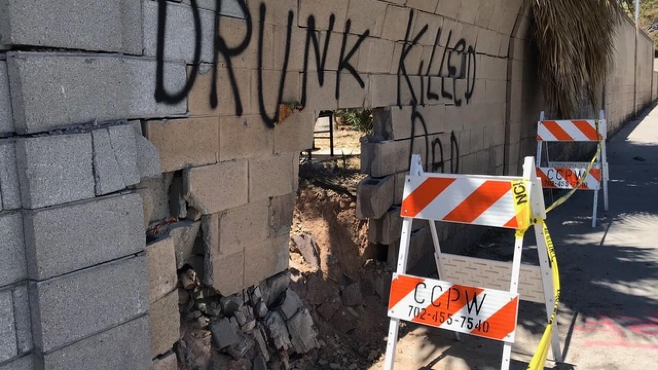 Heartbreaking message left at recent crash site
