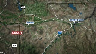 2 people dead in crash in Cascade County