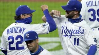 Indians Royals Baseball Bubba Starling Mike Matheny