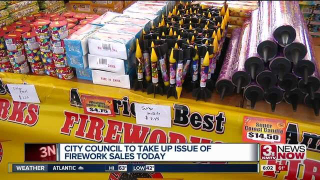 Council expected to vote on firework ordinance