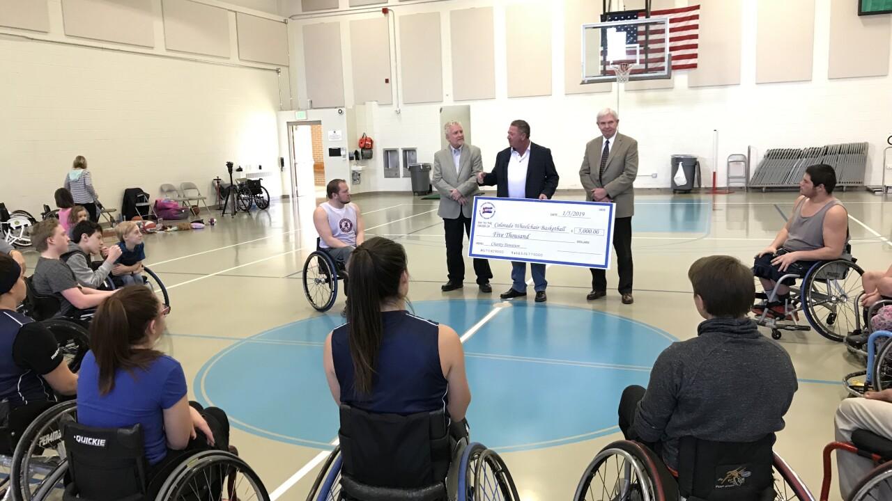 wheelchair basketball donation