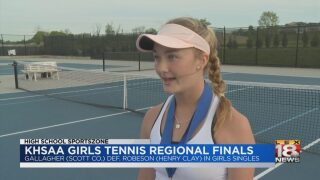 KHSAA Tennis Regional Finals Highlights
