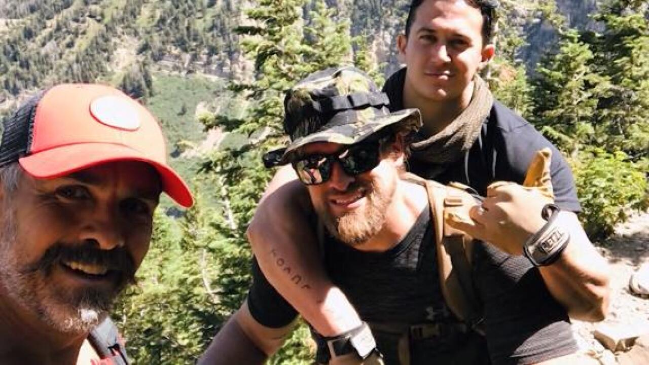 His fellow veteran lost both legs in Afghanistan. So this Marine carried him up Mt. Timpanogos