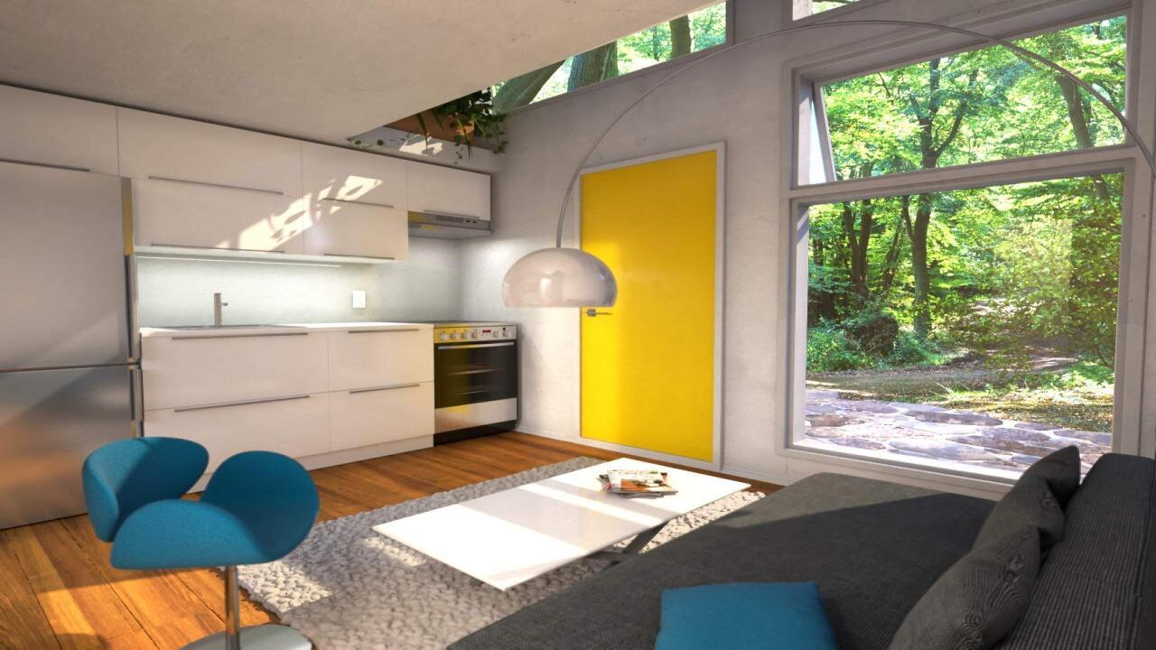 Amazon is now selling a tiny home 'cube' that has a full kitchen