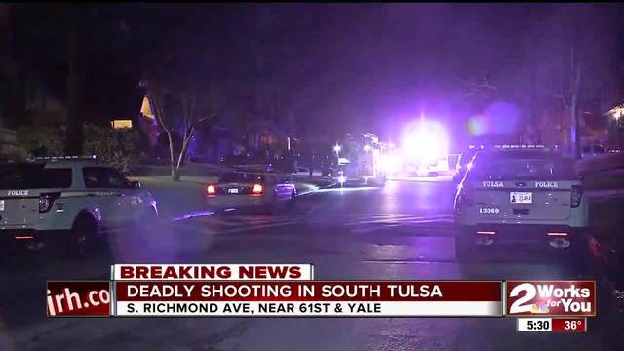 One person dead in south Tulsa shooting