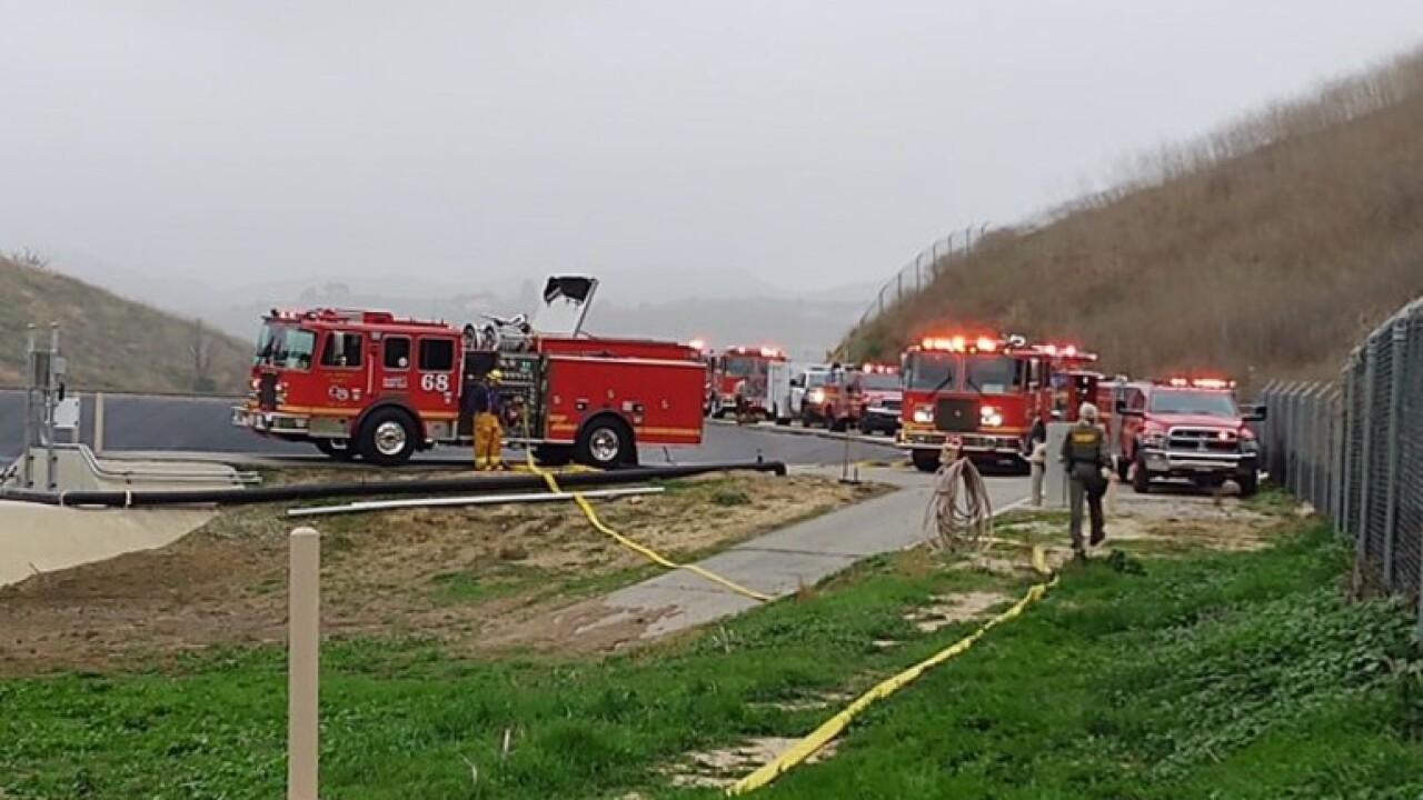 Plane crash reported in Calabasas, California