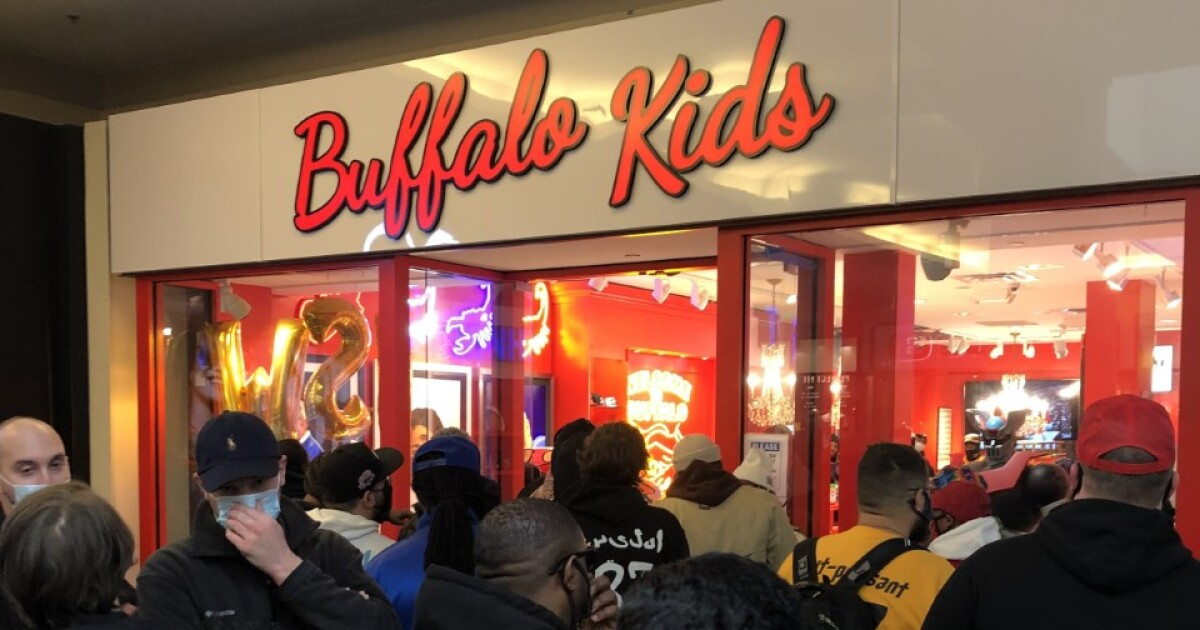 Hundreds line up for grand opening of Buffalo Kids store at Walden Galleria - WKBW-TV