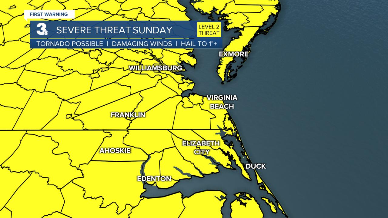 Severe Storm Threat - Sunday