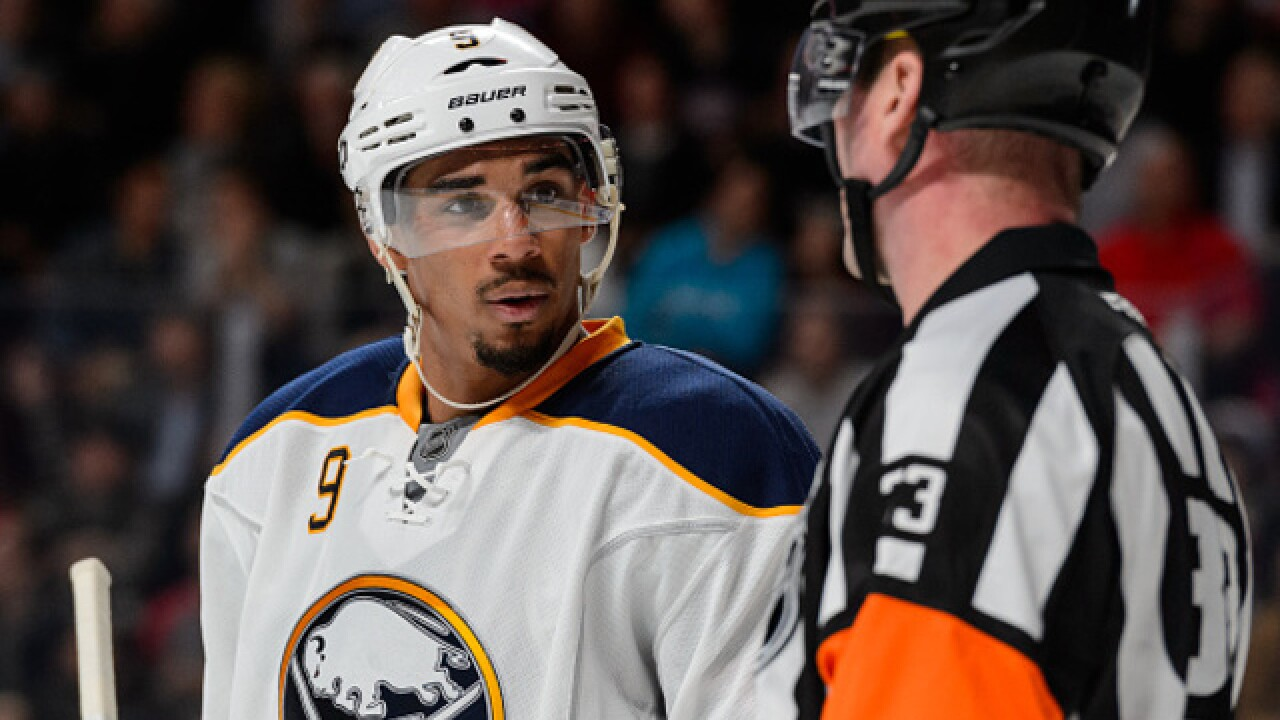 Sabres say Evander Kane is done for the season