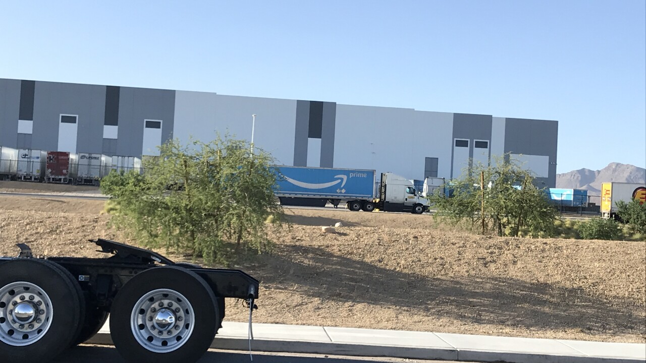 Amazon operates several large warehouses which are scattered across the Las Vegas valley