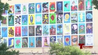 Decoran centro de Corpus Christi con coloridos murales