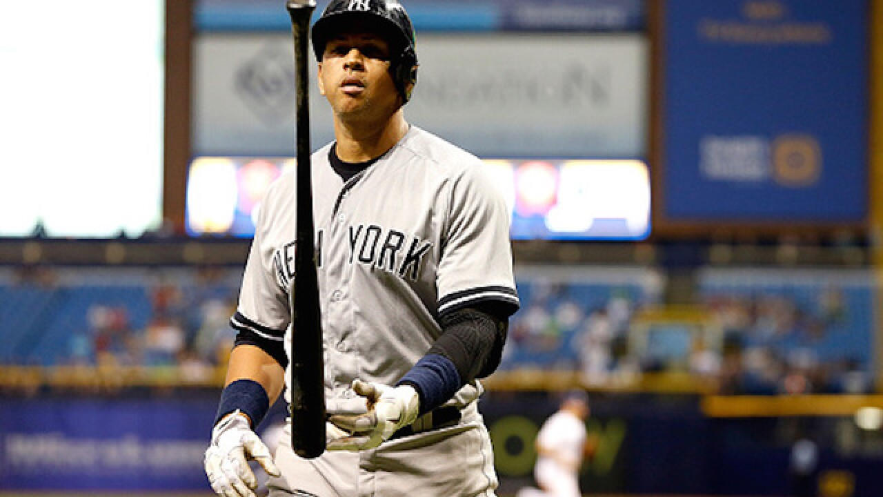 A-Rod in Yankee lineup for final time