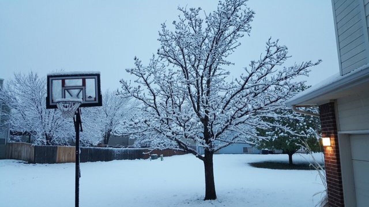 PHOTOS: Easter morning snowstorm