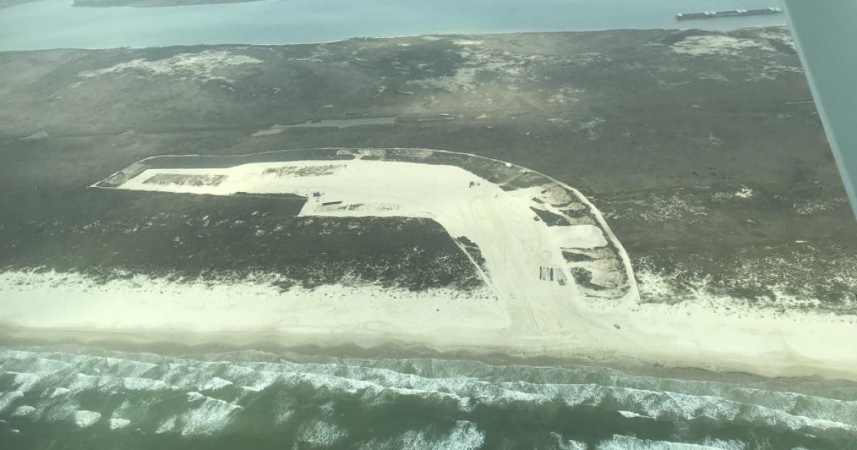 Barges moved at San Jose Island have been moved