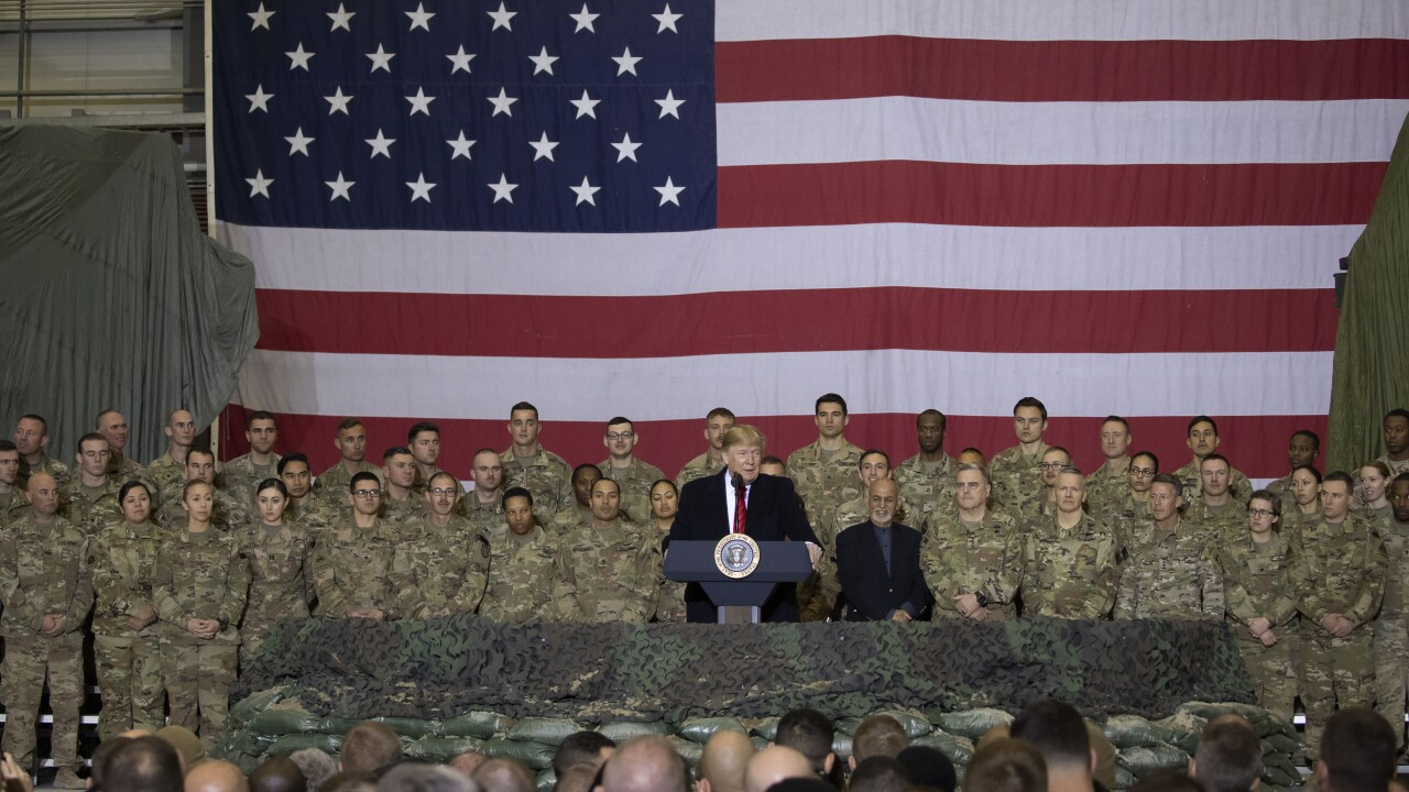 President Trump and first lady Melania Trump make surprise Thanksgiving visit to troops in Afghanistan