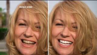 Look up to 13 years younger by whitening your smile with PowerSwabs