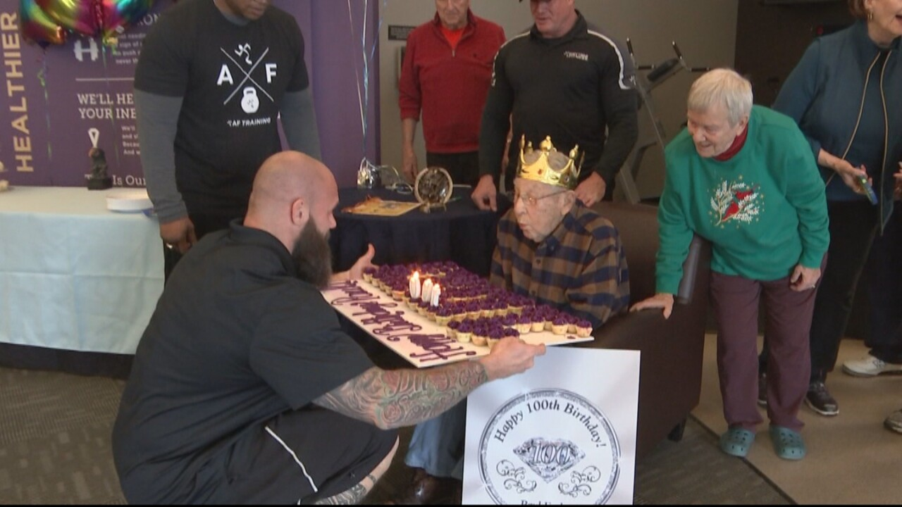 Pennsylvania gym throws very special 100th birthday party for a favorite client